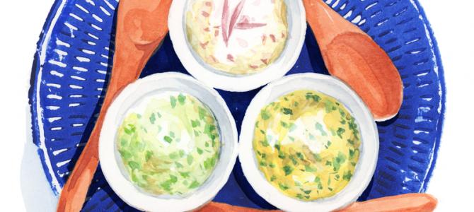 三種の和ハーブ クリームチーズ